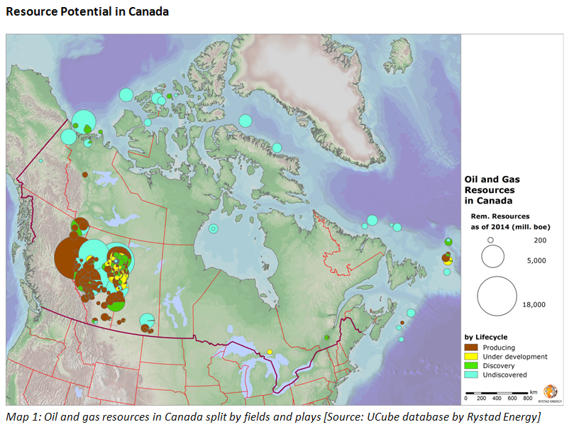 Oil Field In Canada Map Rystad Energy   E&P in Canada: Past and Future